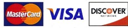 Mastercard, Visa and Discover Cards